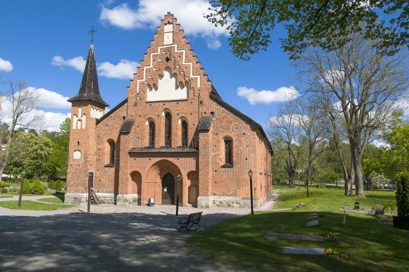 Церковь Sigtuna St Mary средневековая стоковые изображения rf