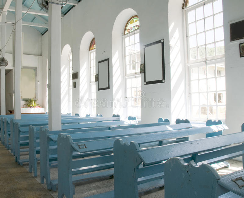St. Mary Anglicaanse chuch bequia stock foto
