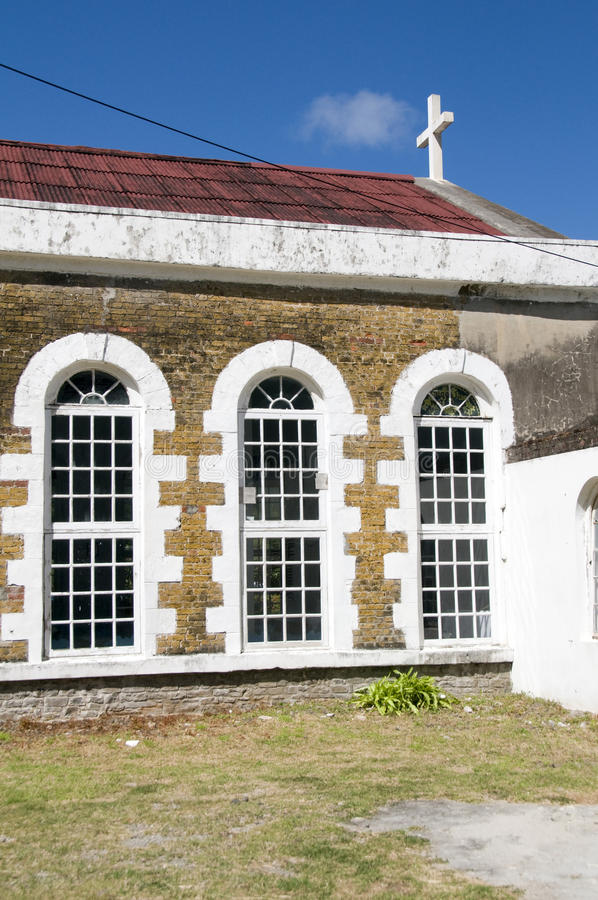 St. Mary Anglicaanse chuch vincent bequia st. stock foto