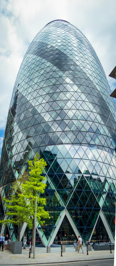 30 St Mary Axe - The Gherkin in London, England. The 30 St Mary Axe - The Gherkin in London, England stock image
