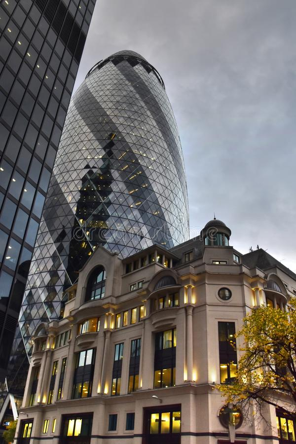 30 St Mary Axe modern architecture stock image