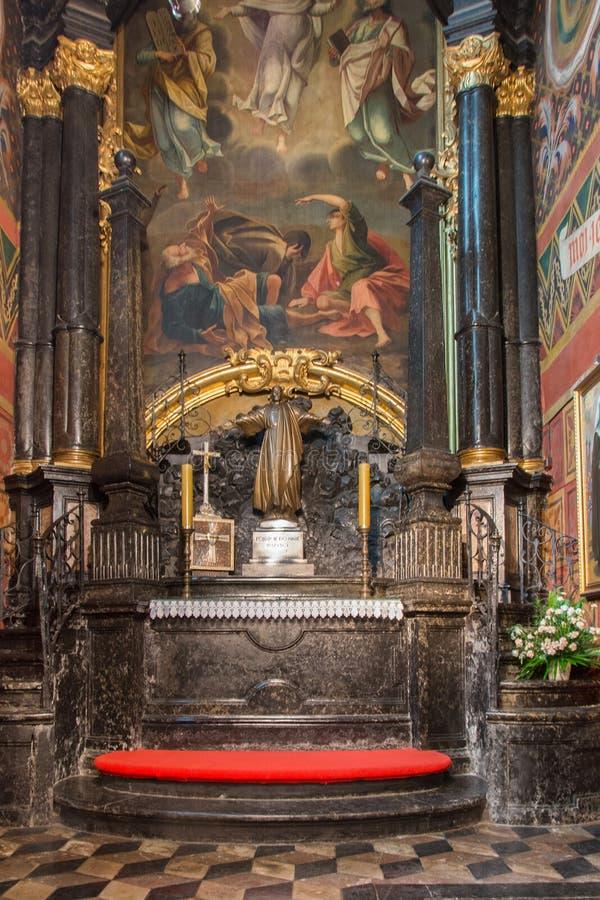 St Mary Basilica Krakow fotografia stock libera da diritti
