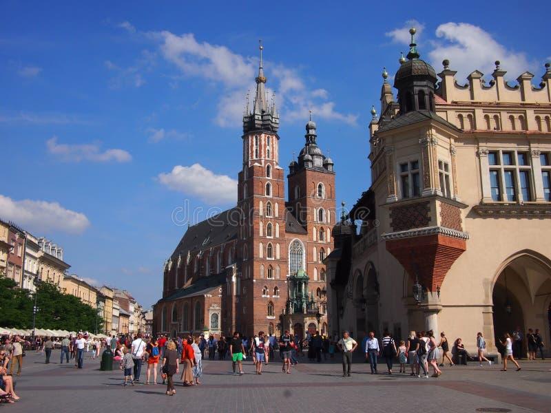 St Mary bazylika w Krakow zdjęcia stock