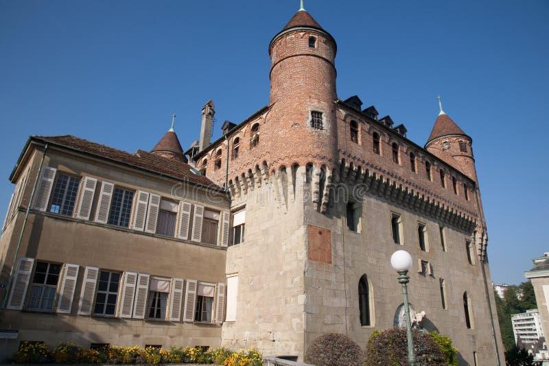ST Mary Castle στη Λωζάνη  Ελβετία στοκ εικόνα