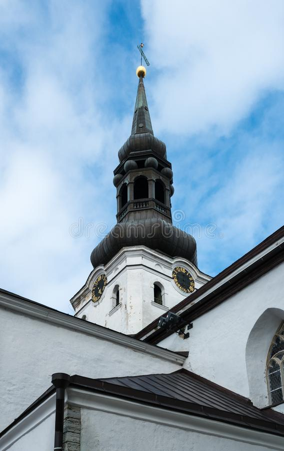St Mary Cathedral dans Toompea Tallinn Estonie images stock