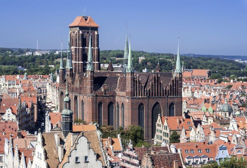 St Mary Cathedral en Gdansk, Polonia fotos de archivo