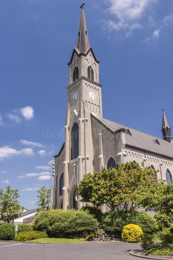 Free St. Mary Cathedral In Mt. Angel Oregon. Stock Photos - 96940613