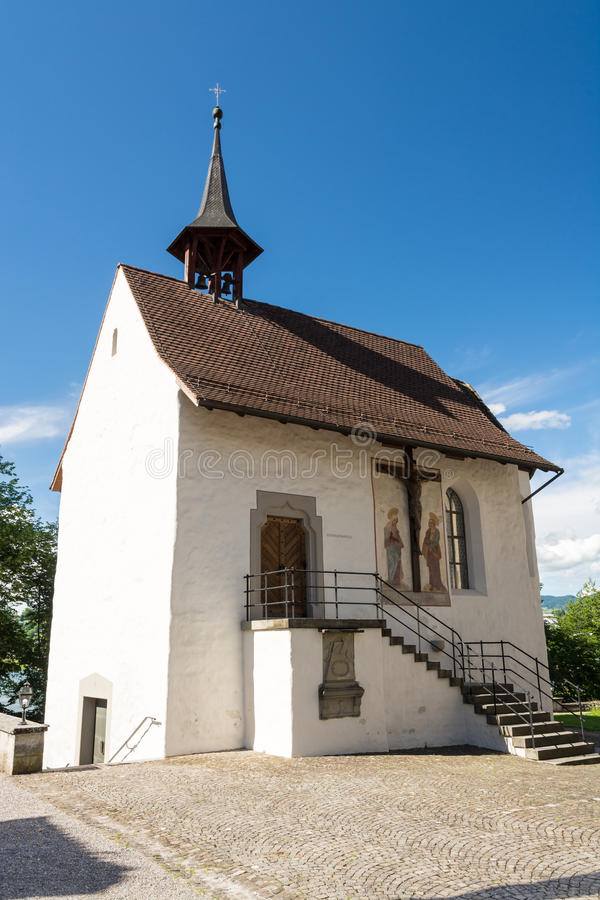 St. Mary Chapel in Rapperswil stockfoto