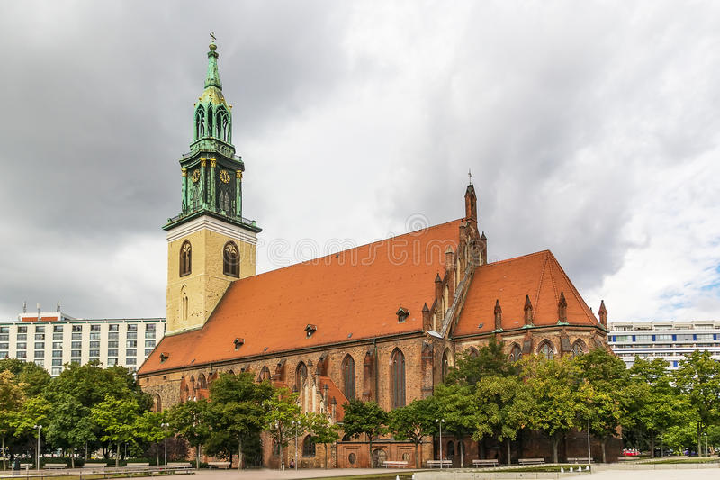 St Mary Church, Berlino fotografie stock