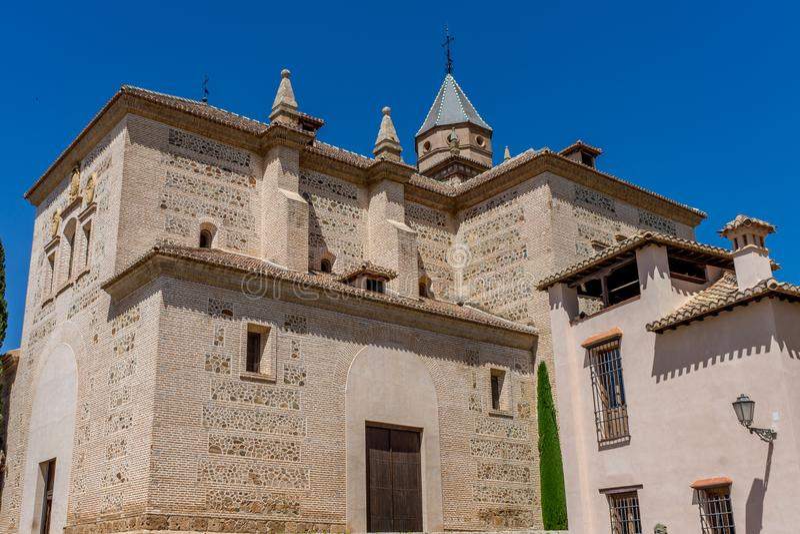 St Mary Church de Alhambra Church de Santa Maria de la Alh fotografia de stock royalty free