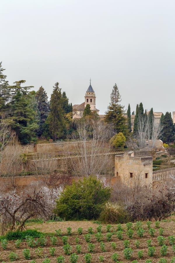 St Mary Church di Alhambra, Spagna fotografia stock