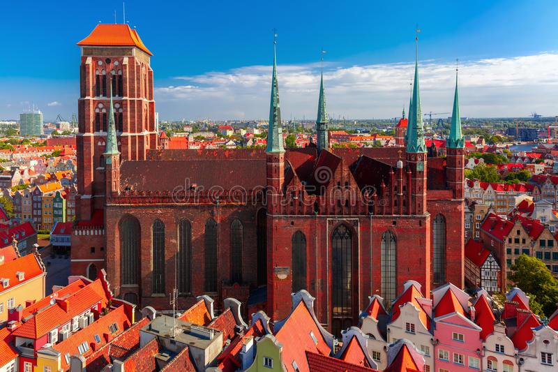 St Mary Church in Gdansk, Poland royalty free stock image