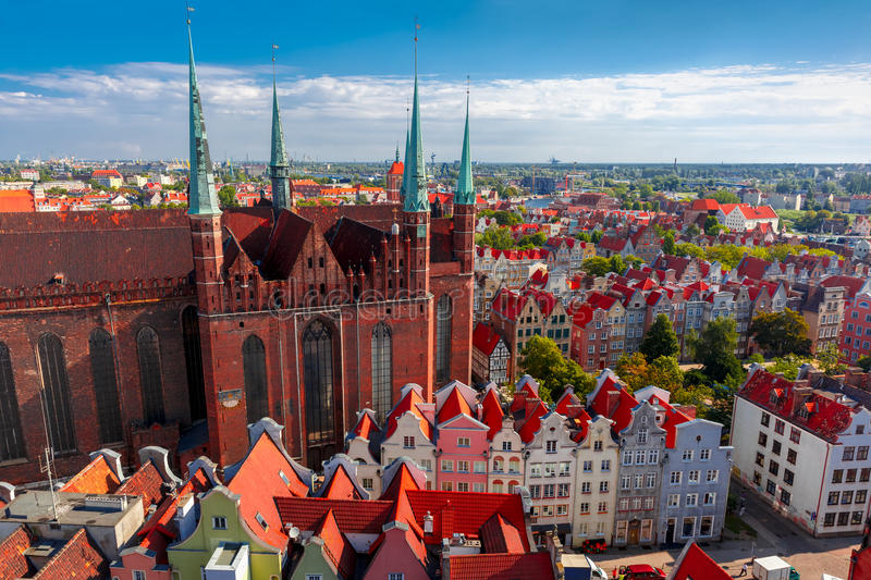 St Mary Church in Gdansk, Polen stock afbeelding