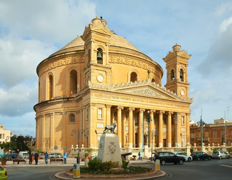 St. Mary church at Mosta. Malta royalty free stock photography