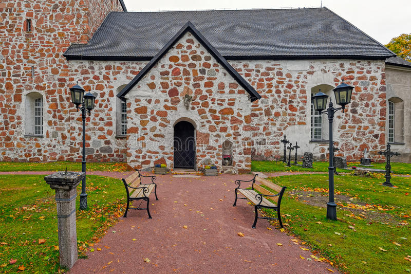 St Mary Church, Saltvik, Aland, Finland stock afbeelding