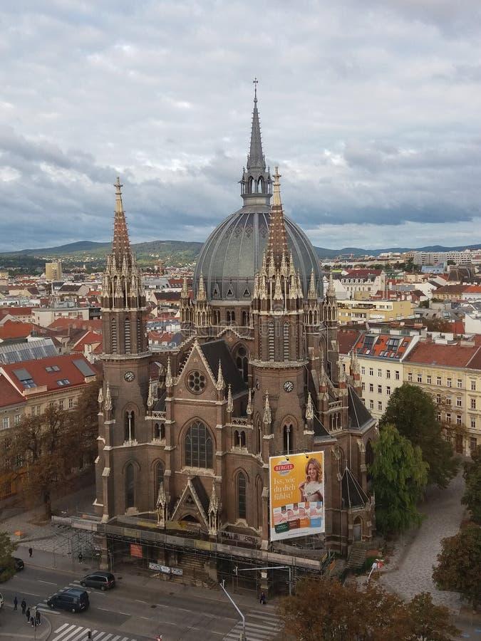 St Mary de la iglesia de la salud en Viena fotos de archivo