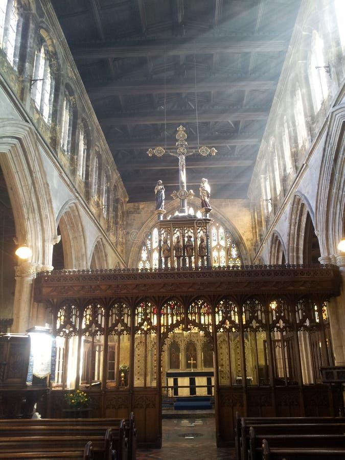 St- Mary` des 14. Jahrhunderts s die reine Kirche stockfotos