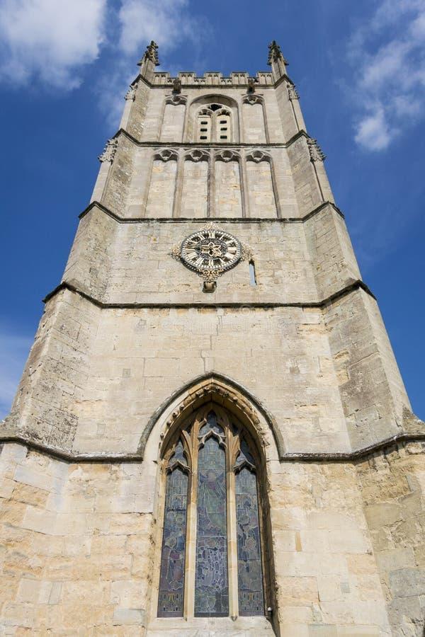 St Mary det jungfruliga kyrkliga tornet royaltyfria bilder