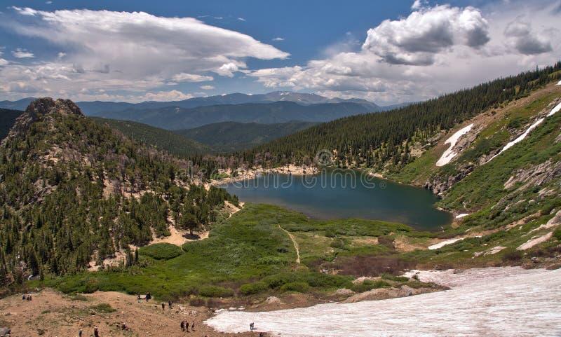 St Mary et x27 ; glacier de s dans le Colorado Rocky Mountains photos libres de droits