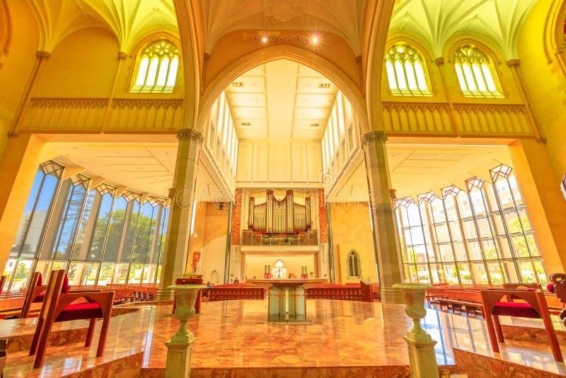 St Mary Katedralny wnętrze zdjęcie stock