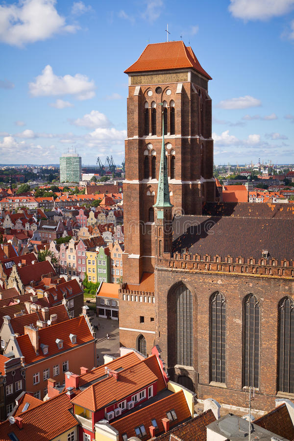 St. Mary Kathedraal in oude stad van Gdansk