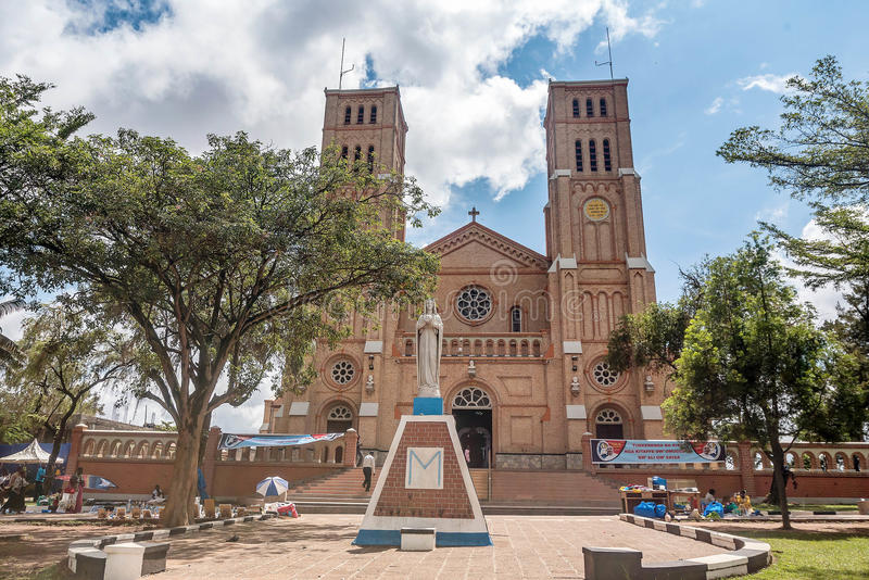 St Mary Katolicka katedra na Rubaga wzgórzu, Kampala, Uganda obraz stock