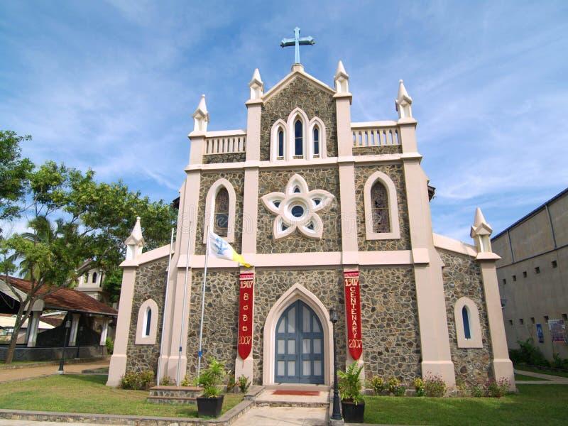 St. Mary Kerk in Matara stock afbeelding