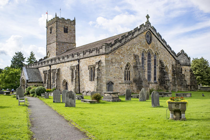 St Mary, Kirkby Lonsdale, Cumbria, Великобритания стоковое фото