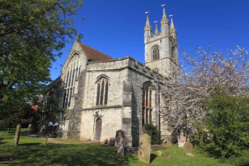 St Mary kyrka i Ashford royaltyfria bilder