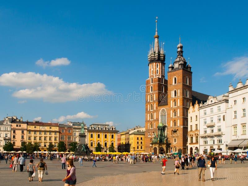 St Mary kyrka i Krakow royaltyfri foto