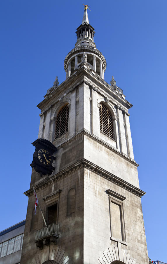 Download St Mary le Bow in London stock photo. Image of england - 26546070