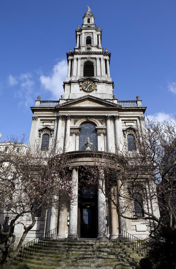 St Mary Le Strand In London Stock Image