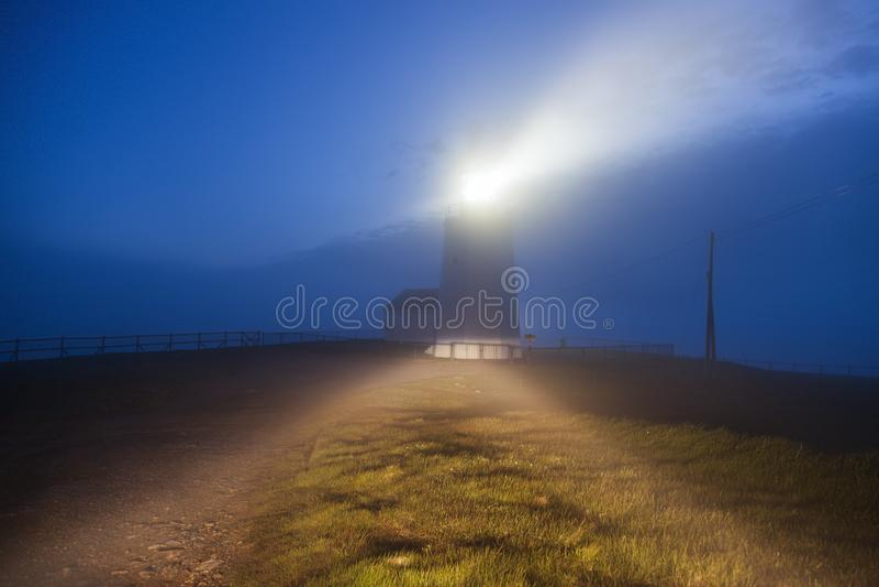 St Mary Lighthouse del cabo fotografía de archivo