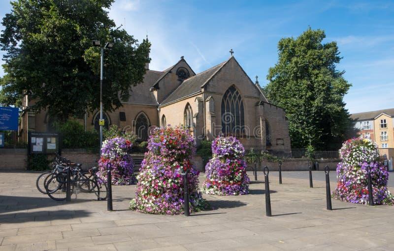 St Mary Magdalen kerk in Hucknall stock foto