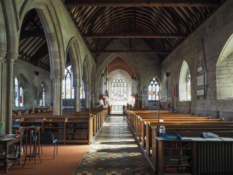 St Mary Magdalene church in Tanworth in Arden stock photography