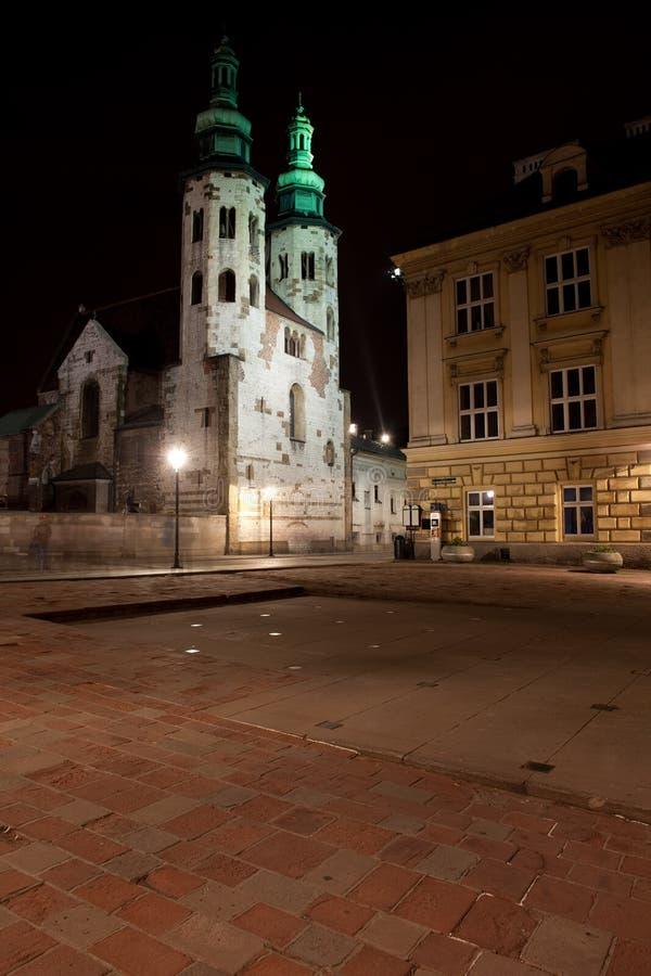 St Mary Magdalene Square e chiesa di St Andrew a Cracovia fotografie stock libere da diritti