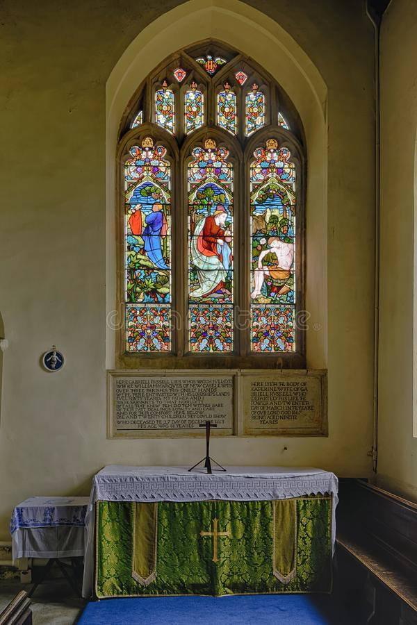 St Mary Magdelene Church, Tormarton. South Gloucestershire, UK .Grade I listed Norman Church stock photography