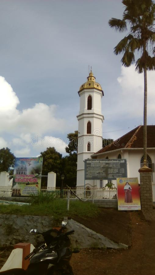 St Mary Metropolitaanse Kerk in Changanacherry Kerala royalty-vrije stock afbeelding