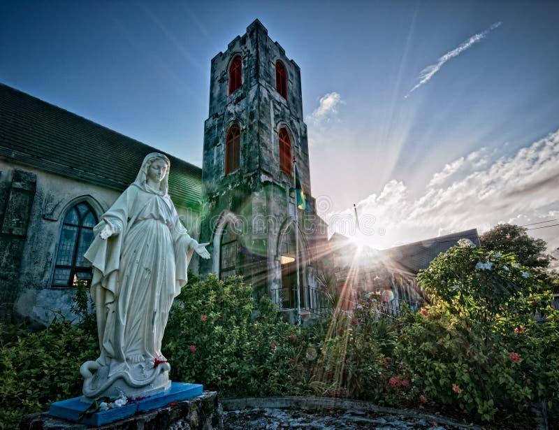 St. Mary o Virgin nos Bahamas foto de stock