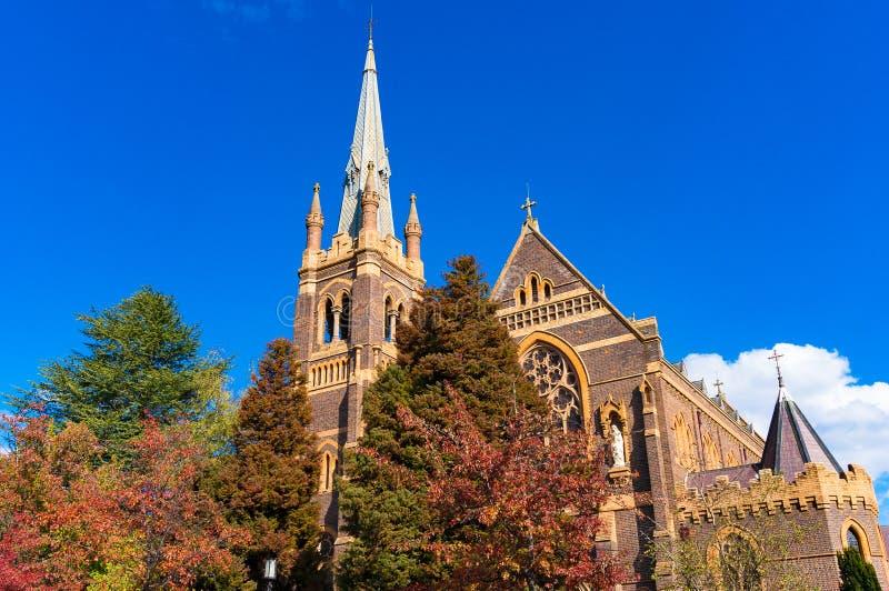 St Mary och domkyrka för St Josephs i Armidale, Australien arkivbild