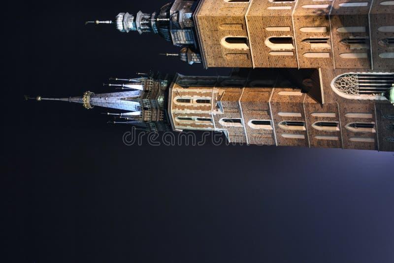 St. Mary's basilica at night royalty free stock photos