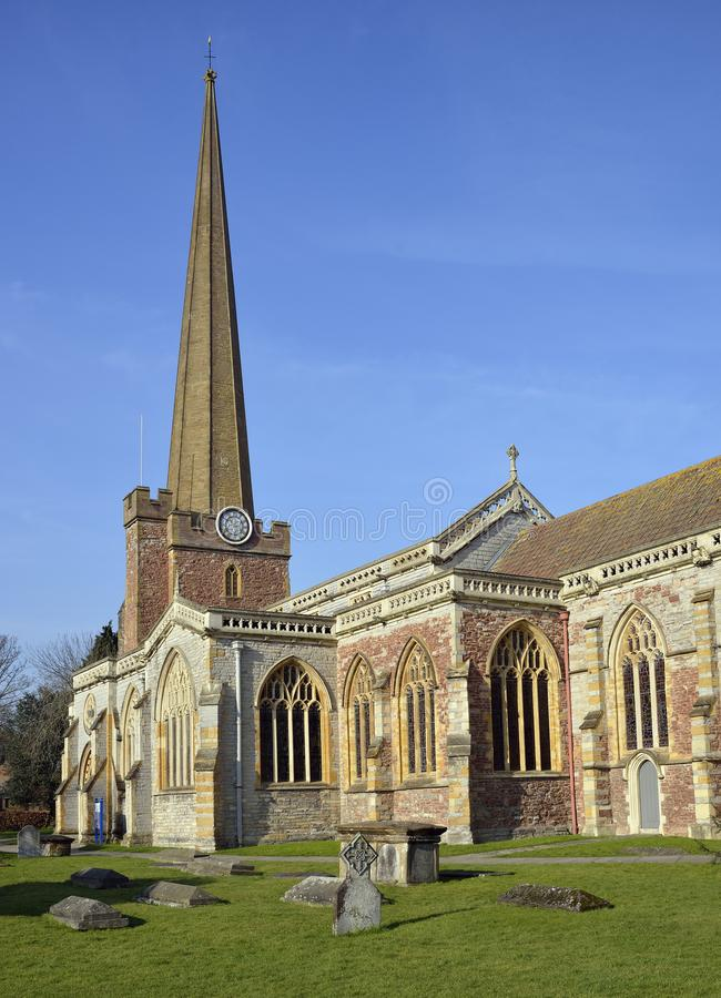 St Mary`s Church, Bridgwater. Somerset royalty free stock photography