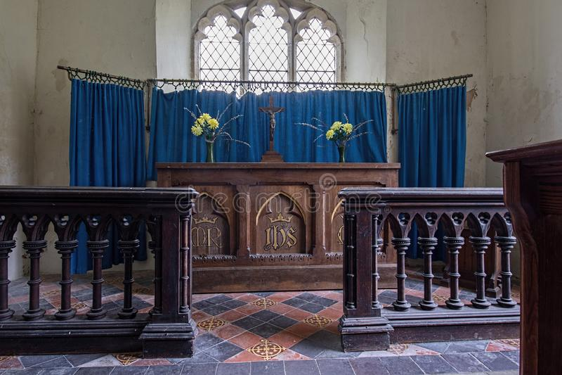 St Mary`s Church Altar Alveringham royalty free stock image