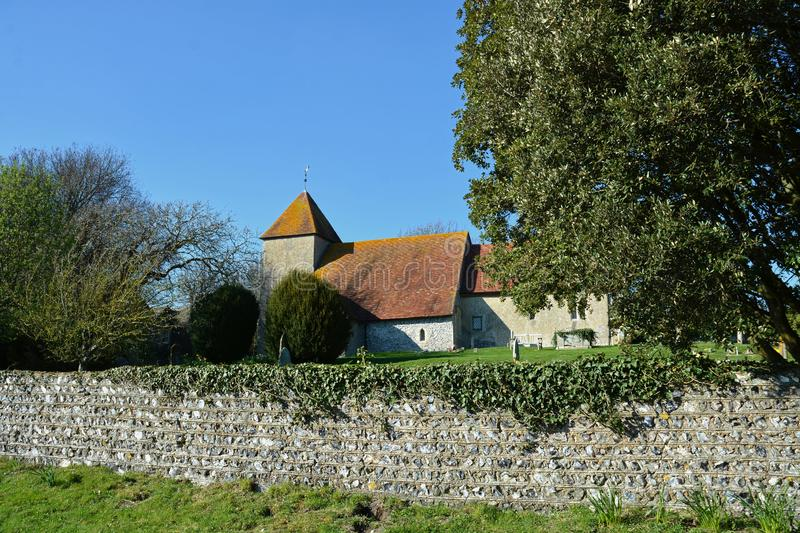 St Mary`s Church. Tarring Neville, Sussex. UK. Tarring Neville consists of a small group of houses on the present main road from Lewes to Newhaven, under the royalty free stock image