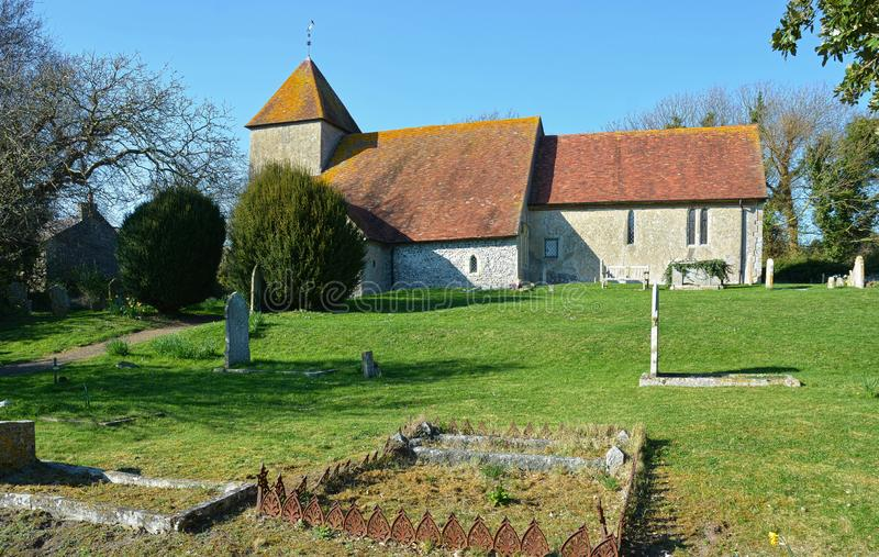 St Mary`s Church. Tarring Neville, Sussex. UK. Tarring Neville consists of a small group of houses on the present main road from Lewes to Newhaven, under the royalty free stock images