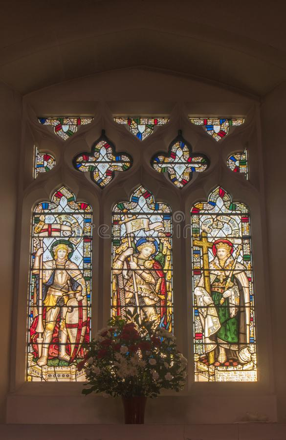 Free St Mary`s Church West Malling St George Window Royalty Free Stock Image - 168062546