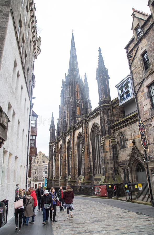 St Mary`s Episcopal Cathedral, Edinburgh. St Mary`s Episcopal Cathedral lies towards the western end of Edinburgh`s New Town. It was built from 1873 to seat 1500 royalty free stock photo