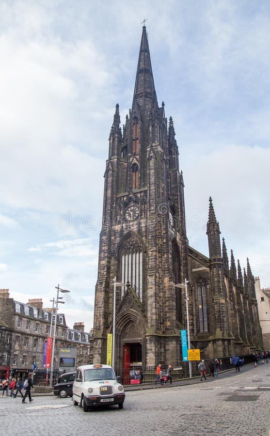 St Mary`s Episcopal Cathedral, Edinburgh. St Mary`s Episcopal Cathedral lies towards the western end of Edinburgh`s New Town. It was built from 1873 to seat 1500 royalty free stock image