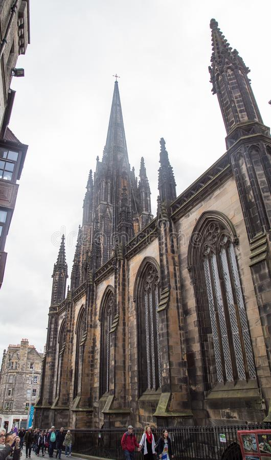 St Mary`s Episcopal Cathedral, Edinburgh. St Mary`s Episcopal Cathedral lies towards the western end of Edinburgh`s New Town. It was built from 1873 to seat 1500 stock images