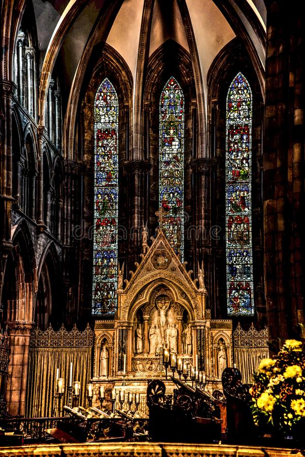 St Mary ` s Kathedraal, Edinburgh, Schotland royalty-vrije stock fotografie
